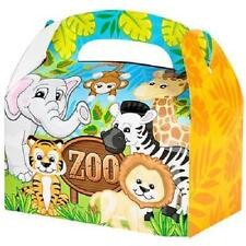 12 ZOO ANIMAL TREAT BOXES Safari Birthday Loot Goody Bags #SR49 FREE SHIPPING