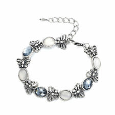 Butterfly Silver Plated Crystal Costume Bracelets