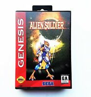 Alien Soldier - Game / Case English Translated Sega Genesis (USA Seller)