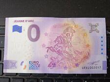 BILLET EURO SOUVENIR 2021-1 JEANNE D'ARC ANNIVERSAIRE