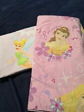 Disney Princesses Flat Sheet Tinkerbell Flat Sheet Both Full Size Two Sheets