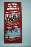 Midway Airlines - Timetable - March 1, 1985