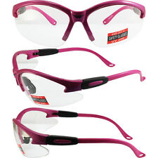 6 PAIR Cougar Safety Glasses HOT Pink Frame Clear Lens ANSI Girl Gear