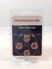 Porsche Valve Stem Caps COLORED Crest Carrera Cayman Boxster Cayenne Panamera