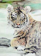 Erwin OHDE (XX.) - Ölbild: JUNGER TIGER / TIGERJUNGES