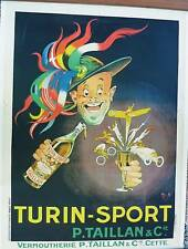 MICH - ORIGINAL VINTAGE POSTER - TURIN SPORT - CIRCA 1920