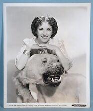 1938 Gracie Allen College Swing 2 Studio Portrait Photos w/Bear Rug George Burns