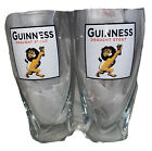 LOT OF 2 RARE GUINNESS STOUT DRAUGHT BEER GLASSES LION PINT 20 OZ