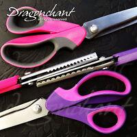 Professional Quality PINK Pinking Shears Dressmaking Scissors Zig Zag Scallop UK