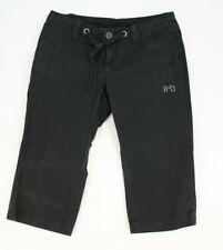 Harley-Davidson Size 6 Black Lightweight Cargo Capri Pants Women's