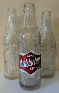 Lot 3 Soda Pop Bottles Baldschun Lecklider ACL art deco Greenville Ohio OH red
