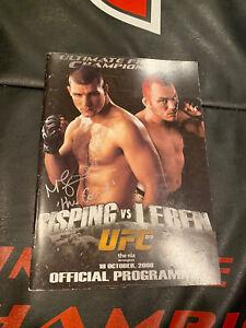 UFC 89 Bisping Vs  Leben Signed Program MMA