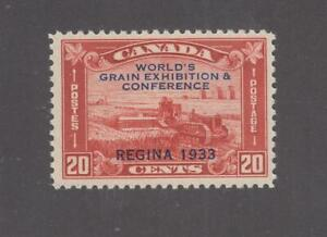CANADA # 203 VF-MNH WORLD GRAIN  EXHIBITION 20cts RED CAT VALUE $120