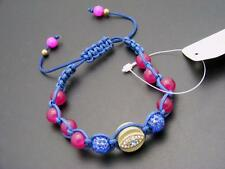 $18 *W Stones & Beads* Purple/Plum Jade &  Evil Eye Beaded Macrame Bracelet