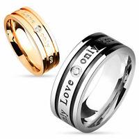 Ring Only Love Only You Rosegold Edelstahl Partnerringe Ehe Verlobung Pärchen