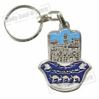 JERUSALEM Israel Metal KeyChain ring jewish camel Amulet Lucky Success Holy Gift