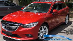 Window Visors WeatherShields 4pc weather shields for Mazda 6 GJ GL Wagon 2013-19