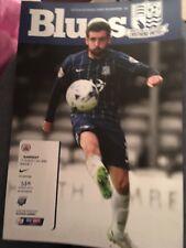 Southend United V Barnsley Football Programme 2015