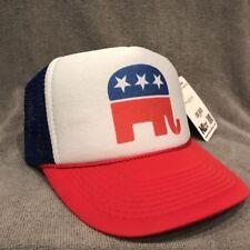 Republican Party Elephant Trucker Hat Vintage Style Mesh Snapback Cap Logo 2203