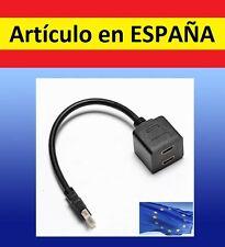 Desdoblador señal HDMI de 1 a 2 cable split television audio video tv adaptador