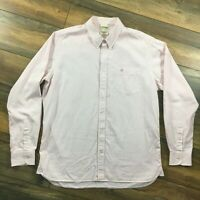 """Mens Timberland Size L 44"""" Chest Long Sleeve Pink White Gingham Check Shirt"""