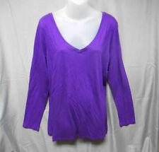 NWOT Lane Bryant purple V neck long sleeve top women's plus size 22/24