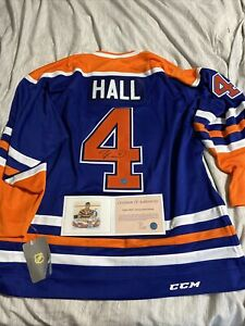 Taylor Hall signed autographed authentic edmonton oilers jersey mens L COA