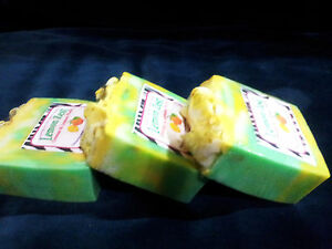 Homemade Natural Lemon Zest Citrus Glycerin Exfoliating Soap