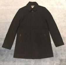 BURBERRY Mens Black Wool Overcoat Medium NEW 100% Authentic