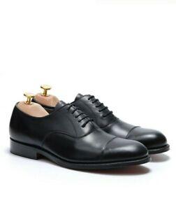 Shop Sali Homme Noir en Cuir à Lacets Grenson Formelles Chaussures UK 12 Crewe
