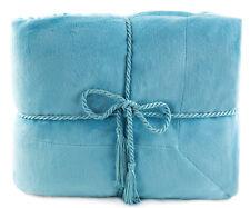 Soft Reversible Throw Faux Fur Lambs Wool Bed Sofa Warm Blanket Throw