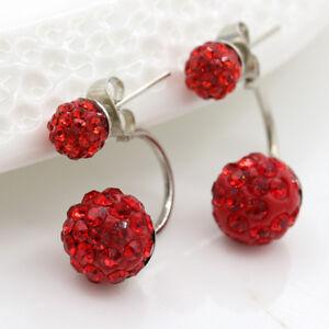1 pair Women Lady Elegant pearl Rhinestone Ear Stud Earrings