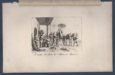 Vinattiere alla strada da Milano a Pavia Frommel Carl Kollmann Ernst Lipsia 1837
