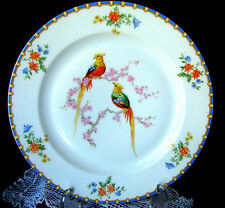 "MZ Altrohlau CMR Victoria Art Deco Bird of Paradise 9 7/8"" Dinner Plate c.1925"