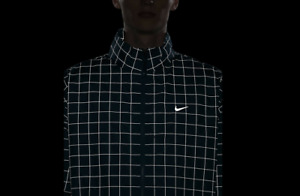 NikeLab Flash Tech Reflective Grid Track Jacket Black/White CV0556-010 Sz S