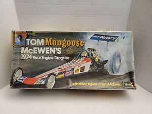 "VINTAGE 1974 REVELL #H-1490 TOM McEWEN'S "" MONGOOSE "" REAR ENGINE DRAGSTER 1/16"