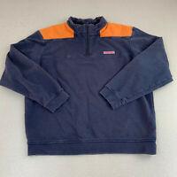 Vineyard Vines Full Zip Jacket Mens Large Blue Orange Long Sleeve Casual
