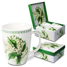 Tassen, 4 tlg. Maiglöckchen 0,35 L Geschenkverpackung Tee Kaffe Becher Geschirr