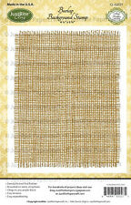 JUSTRITE CLING Rubber Stamps BURLAP BACKGROUND STAMP CL-02027