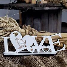 Deko Aufsteller LOVE « MEERESSCHILDKRÖTE » Schild Liebe Herz Schildkröte Meer