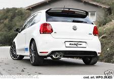 TERMINALE MARMITTA SCARICO SPORTIVO INOXCAR VW POLO 6R WRC 13  2.0 TSI 2X80MM 70