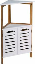 Bamboo Free Standing Bathroom Floor Corner Caddy Tidy Organiser Shelves Cupboard