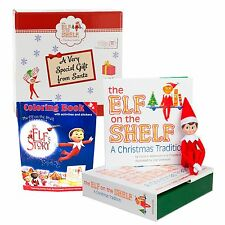 Elf on the Shelf Blue Eyed Boy with An Elf Story Coloring Book Limited Editio...