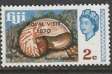 1970 FIJI  2c PEARLY NAUTILIUS o/w ROYAL VISIT  SG 417 U/MINT