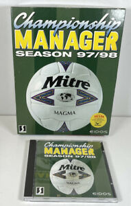 Championship Manager 97/98 Big Box Version 1997 1998 Complete - Champ Man