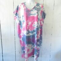 New Gigio By Umgee Dress M Medium Tie Dye Oversized T Shirt Tunic Pockets