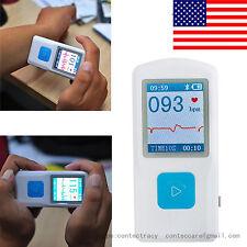 USA PM10 Portable ECG EKG Machine Heart Beat Monitor,USB, Bluetooth,LCD,CONTEC