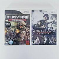 Heavy Fire: Afghanistan & Medal of Honor: Vanguard Lot of 2 (Nintendo Wii, 2011)