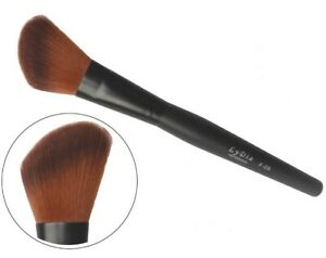 LyDia Black Angled Long Mineral Face Loose Powder Blusher Makeup Brush F-09