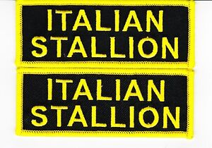 2 ITALIAN STALLION SEW/IRON ON PATCH FERRARI EMBROIDERED ITALY T SHIRT ROCKY